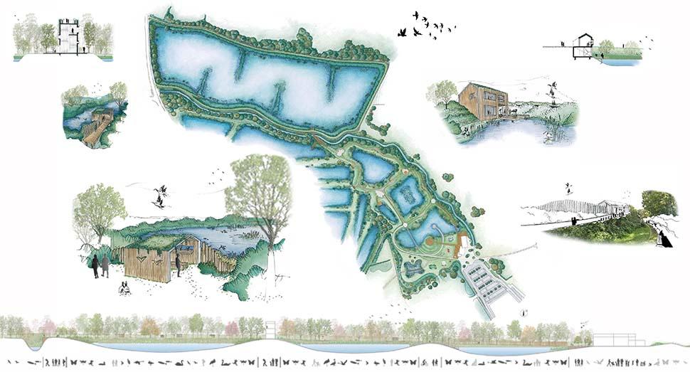 Valorisation touristique des bassins de décantation de Frasnes-lez-Anvaing